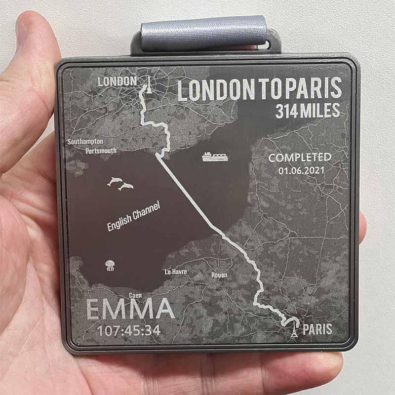 London to Paris 314 Miles