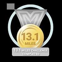13.1 Mile Challenge Achieved