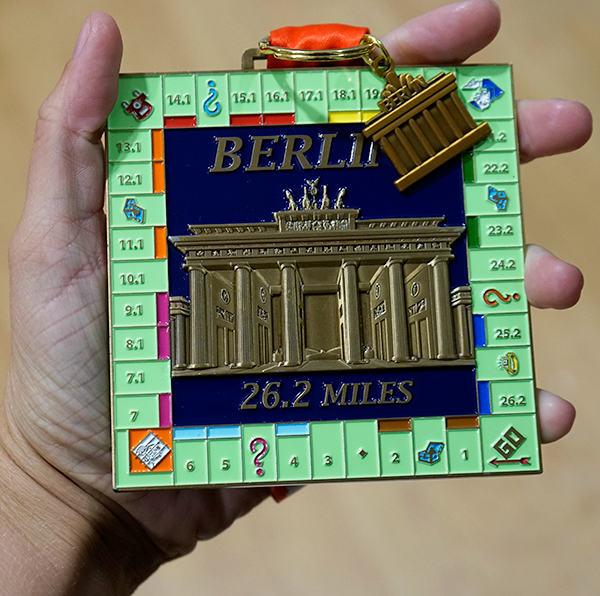 Completed Berlin 26.2 mile challenge