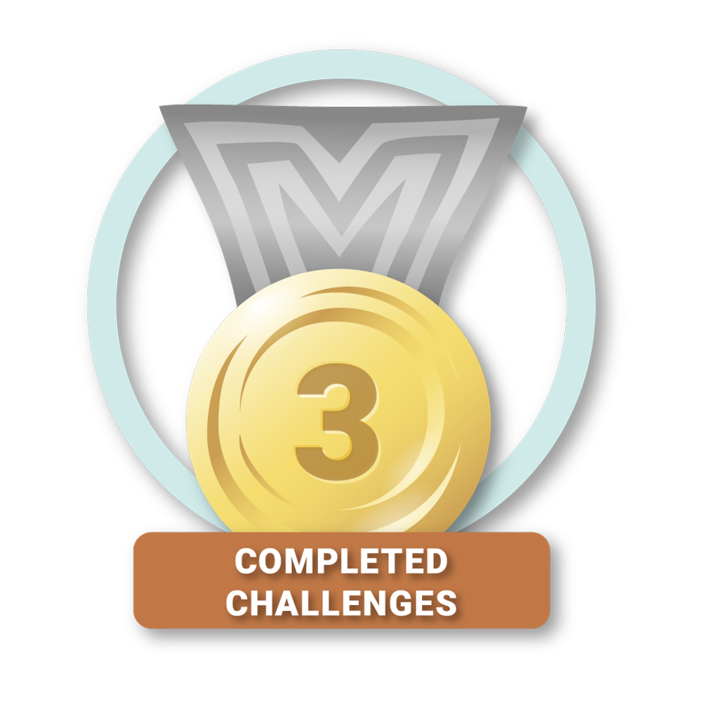 3 Completed Challenges