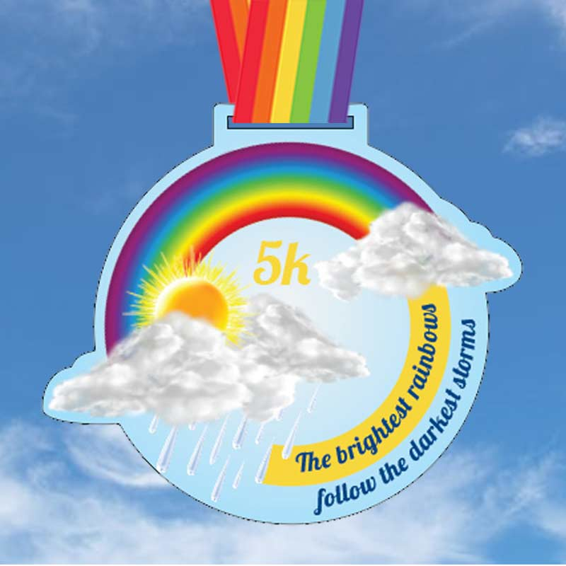 Completed the Brightest Rainbows 5KM Challenge 2020
