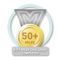 50 + Miles Challenge Achieved