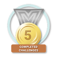 5 Completed Challenges