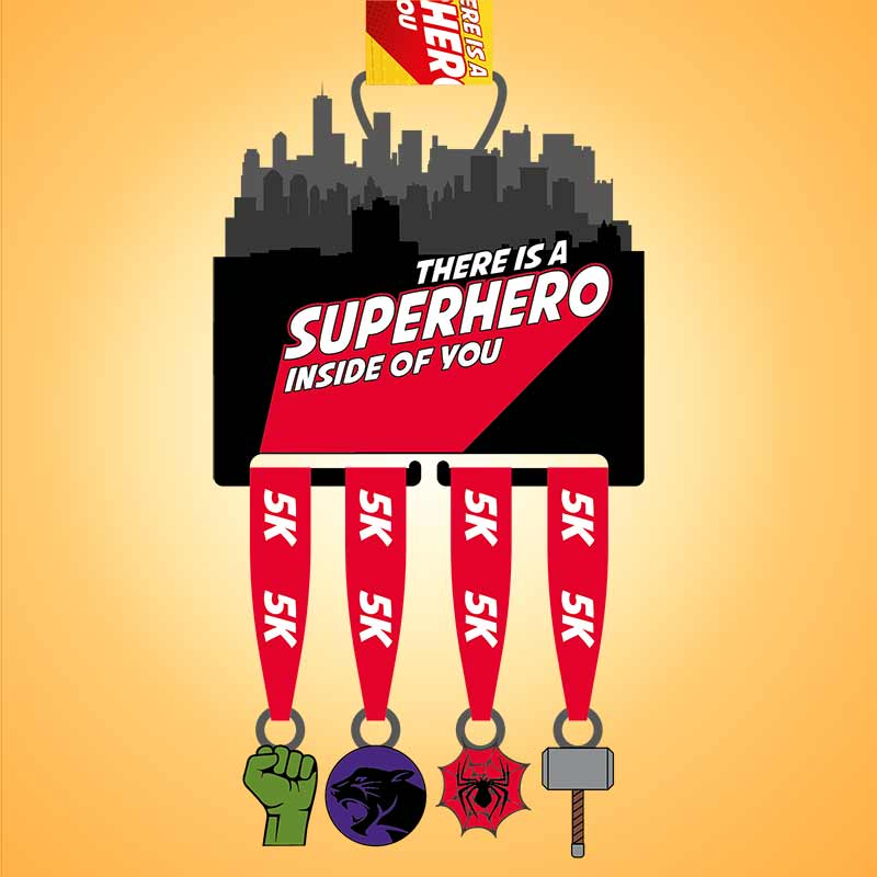 Completed Superhero Inside of You 20KM Challenge